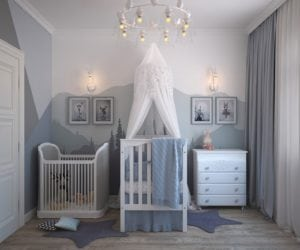 children's room is modest in size